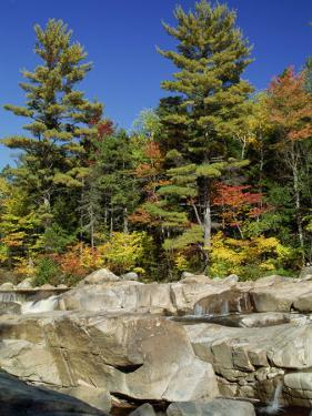 Large Boulders in the Swift River, Kancamagus Highway, New Hampshire, New England, USA by Amanda Hall