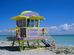 Lifeguard Station, South Beach, Miami Beach, Florida, USA by Amanda Hall
