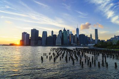 Lower Manhattan Skyline at Sunset by Amanda Hall