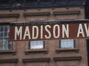 Madison Avenue Street Sign, Upper East Side, Manhattan, New York City, New York, USA by Amanda Hall