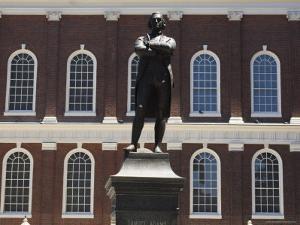 Portrait of Samuel Adams, Faneuil Hall, Boston, Massachusetts, USA by Amanda Hall
