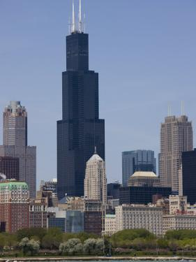 Sears Tower and Skyline, Chicago, Illinois, United States of America, North America by Amanda Hall