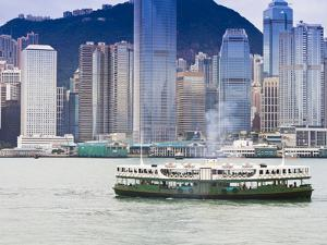 Star Ferry Crosses Victoria Harbour with Hong Kong Island Skyline Behind, Hong Kong, China, Asia by Amanda Hall