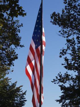 Stars and Stripes, Liberty Island, New York City, New York, United States of America, North America by Amanda Hall