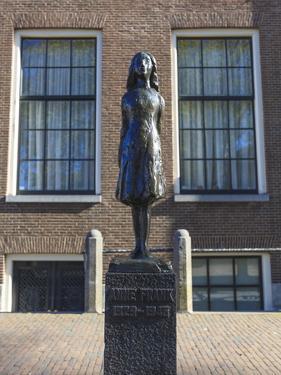 Statue of Anne Frank Outside Westerkerk, Near Her House, Amsterdam, Netherlands, Europe by Amanda Hall