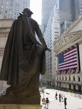 Statue of George Washington in Front of Federal Hall, with the New York Stock Exchange Behind by Amanda Hall