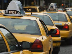 Taxi Cabs, Manhattan, New York City, New York, United States of America, North America by Amanda Hall