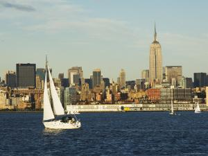 The Empire State Building and Midtown Manhattan Skyline Across the Hudson River, New York City by Amanda Hall