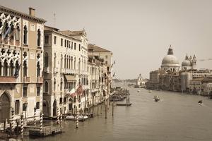 The Grand Canal and the Domed Santa Maria Della Salute, Venice, Veneto, Italy, Europe by Amanda Hall