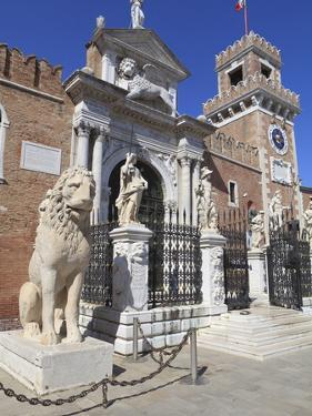 The Porta Magna, Arsenal, Venice, UNESCO World Heritage Site, Veneto, Italy, Europe by Amanda Hall