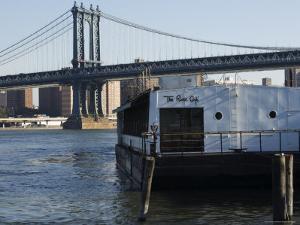 The River Cafe and Manhattan Bridge, New York City, New York, USA by Amanda Hall