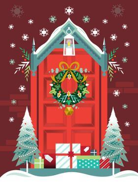 Christmas Door by Amanda Shufflebotham