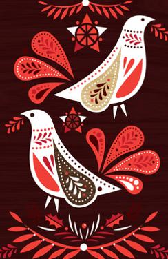 Christmas Redwood Birds by Amanda Shufflebotham