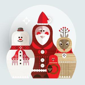Christmas Russian Doll by Amanda Shufflebotham