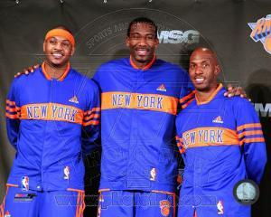 Amar'e Stoudemire, Chauncey Billups, & Carmelo Anthony 2010-11 Press conference