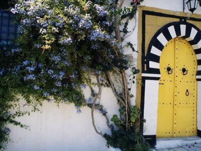 Tunis, Sidi Bou Said, A Decorative Doorway of a Private House, Tunisia