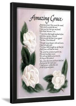 Amazing Grace (Lyrics) Art Print Poster