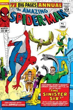 Amazing Spider-Man Annual No.1 Cover: Spider-Man, Sandman, Mysterio, Dr. Otto Octavius, and Electro