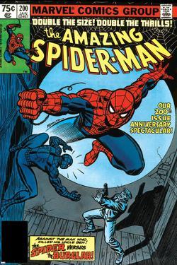 Amazing Spider-Man No.200 Cover: Spider-Man Fighting