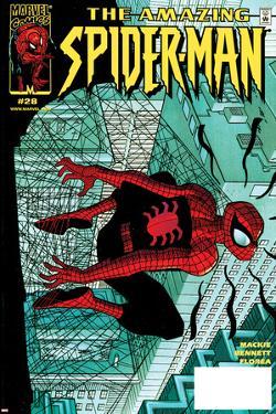 Amazing Spider-Man No.28 Cover: Spider-Man Clutching