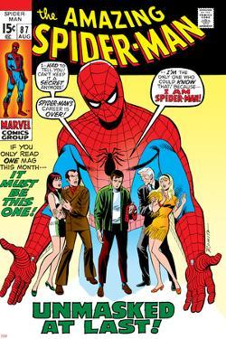 Amazing Spider-Man No.87 Cover: Spider-Man, Mary Jane, Gwen, Harry Osborn, and Peter Parker Posing