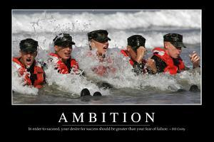Ambition: Inspirational Quote and Motivational Poster