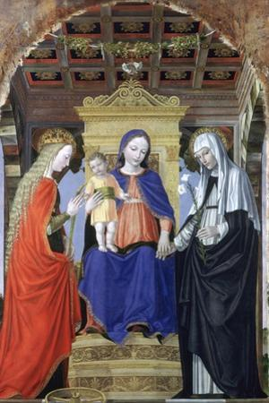 The Virgin and Child with Saint Catherine of Alexandria and Saint Catherine of Siena, C1490 by Ambrogio Bergognone
