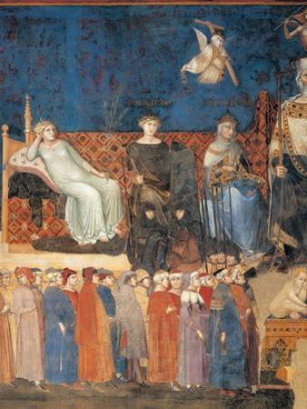Allegory of Good Government (detail) by Ambrogio Lorenzetti