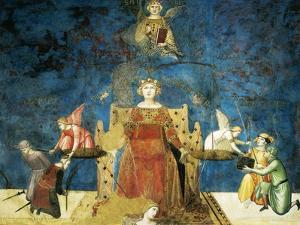 Allegory of Good Government, Wisdom and Justice by Ambrogio Lorenzetti