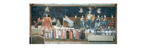 'Allegory of the Good Government', 1338-1340. Artist: Ambrogio Lorenzetti by Ambrogio Lorenzetti