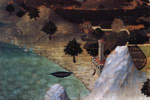 Castle by the Lake by Ambrogio Lorenzetti
