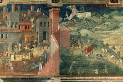 Effects of Good Government, c.1338 by Ambrogio Lorenzetti