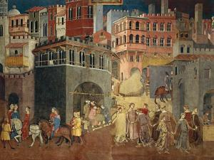 Effects of Good Government in City by Ambrogio Lorenzetti