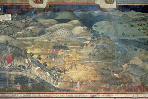 Effects of Good Government in the Countryside, 1388-40 by Ambrogio Lorenzetti