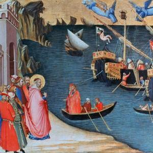 St Nicholas Saves Mira from Famine, C1327-1332 by Ambrogio Lorenzetti