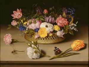 Still Life with Flowers, 1614 by Ambrosius Bosschaert the Elder