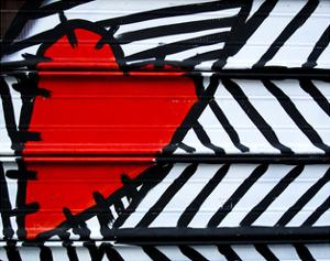 Heart Painted On Metal by AMDavis