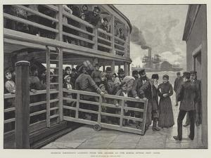 Russian Emigrants Landing from the Tender at the Barge Office, New York by Amedee Forestier