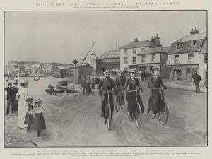 The Court at Cowes, a Royal Cycling Party by Amedee Forestier