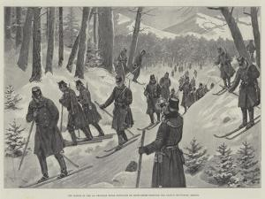 The March of the 5th Prussian Rifle Battalion on Snow-Shoes Through the Giant's Mountains, Silesia by Amedee Forestier