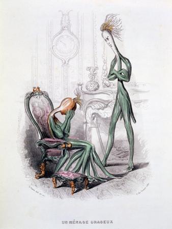 A Stormy Household, Illustration from 'L'Empire Des Legumes Memoires De Curcurbitus', Published…