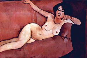 Act on a Sofa (Almaiisa) by Amedeo Modigliani