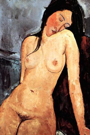 Amadeo Modigliani Nude Female by Amedeo Modigliani