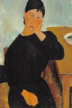 Elvira Resting at a Table, 1919 by Amedeo Modigliani