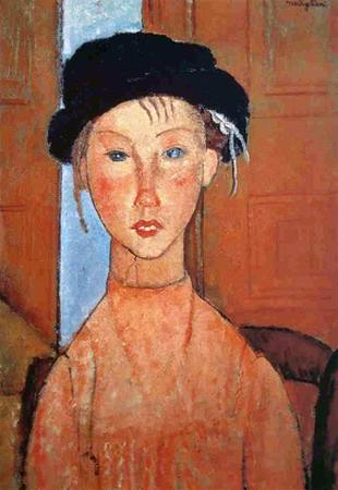 Girl with a Black Hat, 1918 by Amedeo Modigliani