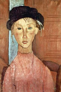 Girl with Hat by Amedeo Modigliani