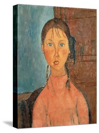 Girl with Pigtails, 1918 by Amedeo Modigliani