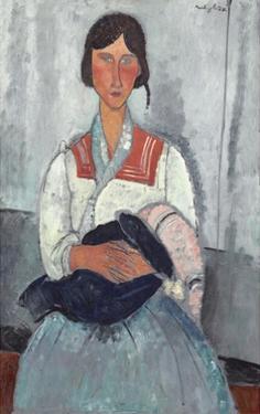 Gypsy Woman with Baby, 1919 by Amedeo Modigliani