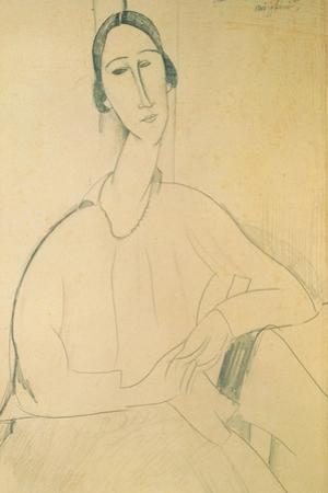 Hanka Zborowska, c.1917 by Amedeo Modigliani