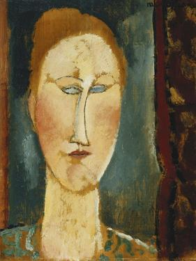 Head of a Woman with Red Hair; Tete De Femme Aux Cheveux Rouges by Amedeo Modigliani